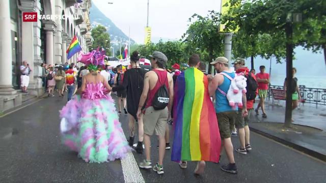 Friedliche, fröhliche Gay Pride mit Bundesrat Cassis in