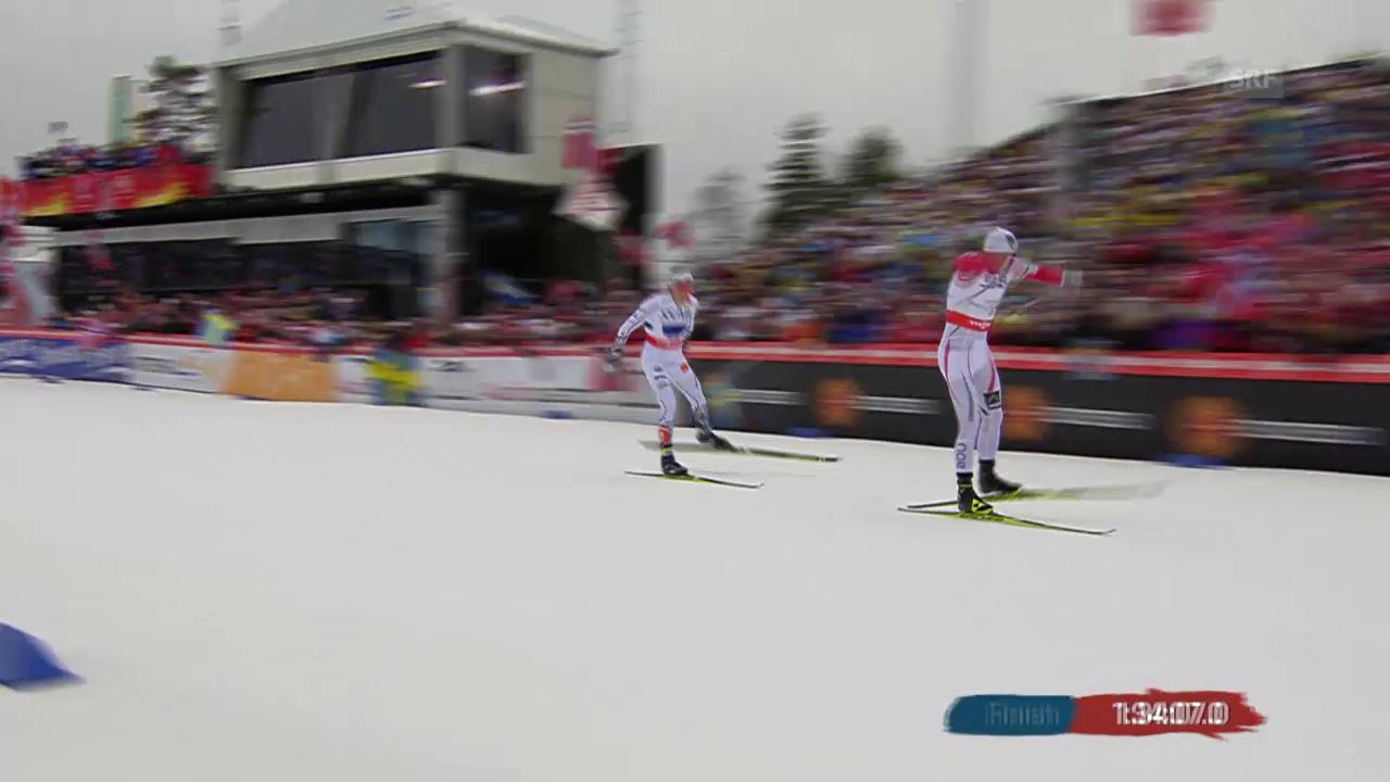 Langlauf: WM Falun, 4x10 km