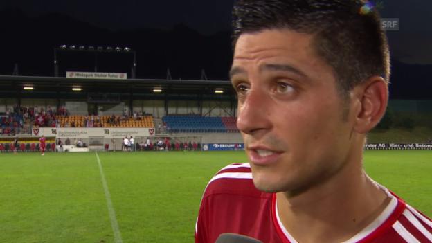 Video «Fussball: Europa League, Rückspiel Vaduz-Thun, Interview mit Moreno Costanzo» abspielen