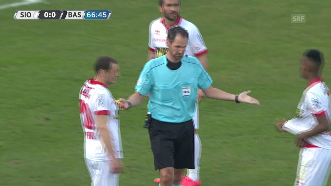Sion-FCB wird nach Fan-Tumulten unterbrochen