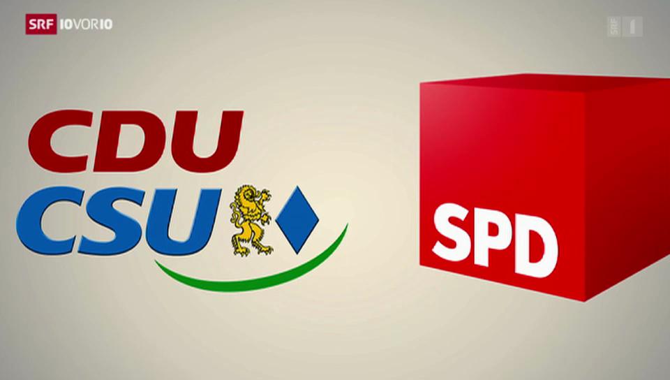 Letzte Koalitionsrunde in Deutschland