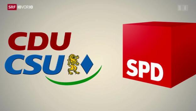 Video «Letzte Koalitionsrunde in Deutschland» abspielen