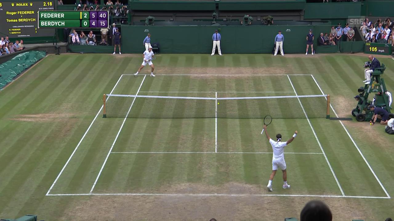 Die Live-Highlights bei Federer-Berdych