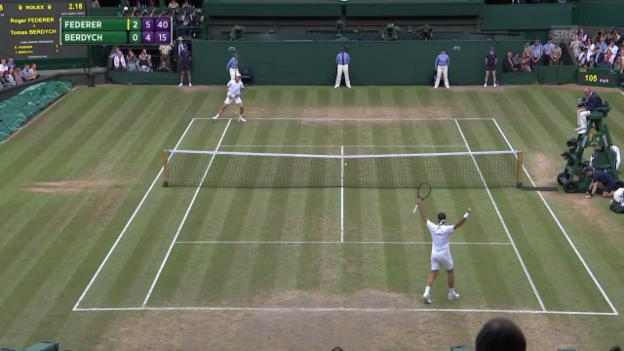 Video «Die Live-Highlights bei Federer-Berdych» abspielen