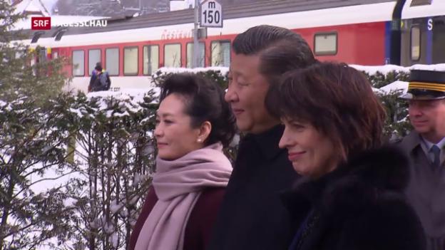 Video «Xi Jingping auf Staatsbesuch in der Schweiz» abspielen