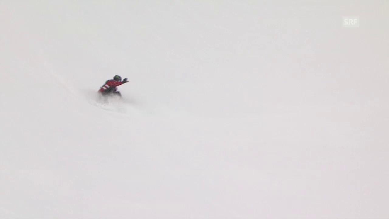 Podladtchikov setzt den 1. Lauf in den Schnee