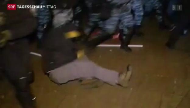 Video «Gewalt bei Demonstrationen in der Ukraine» abspielen