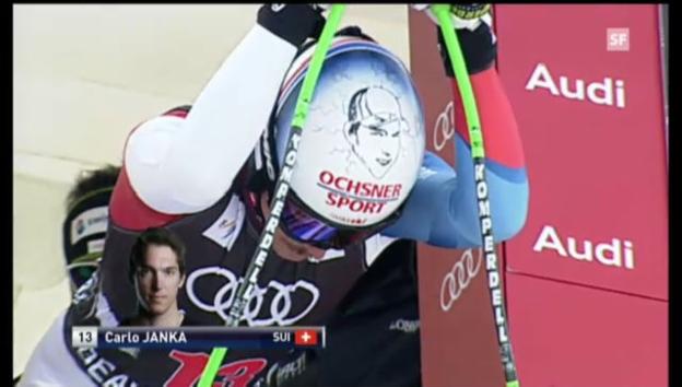 Video «Die Fahrt von Carlo Janka («sportlive»).» abspielen