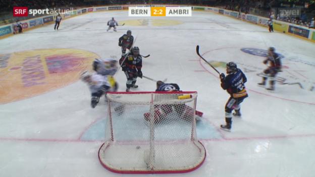 Video «Eishockey: Bern-Ambri» abspielen