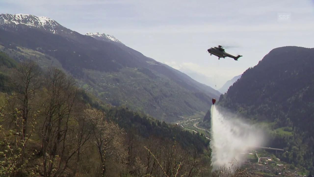 Waldbrand bei Faido