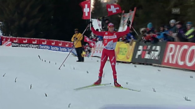 Video «Langlauf: Tour de Ski 2008/09, Gesamtsieg Dario Cologna» abspielen