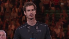 Video «Murray bei der Siegerehrung» abspielen