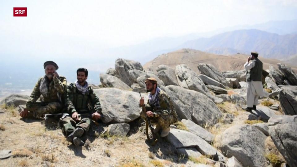 Widerstandskämpfer im Einsatz gegen die Taliban