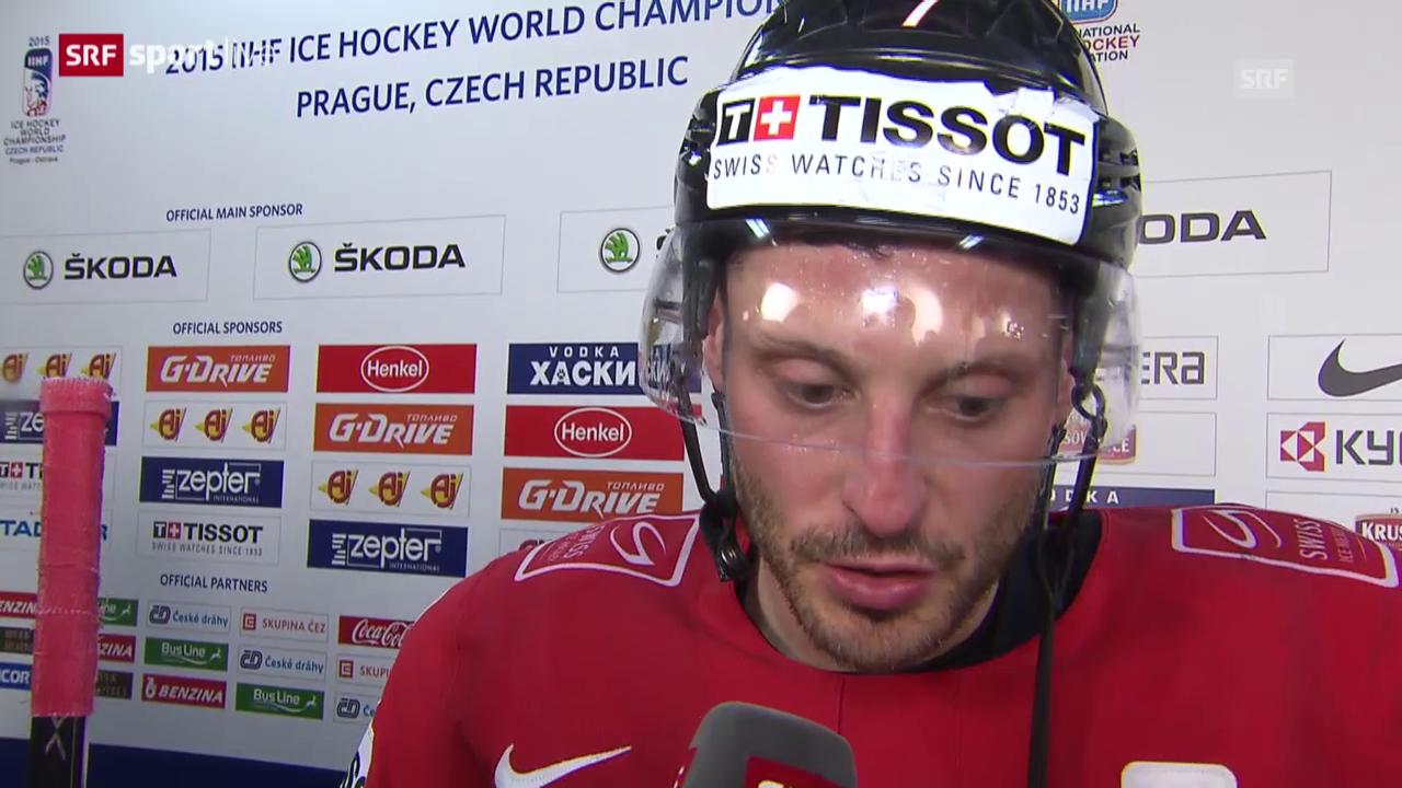 Eishockey: WM 2015 Schweiz - Lettland, Interview Streit