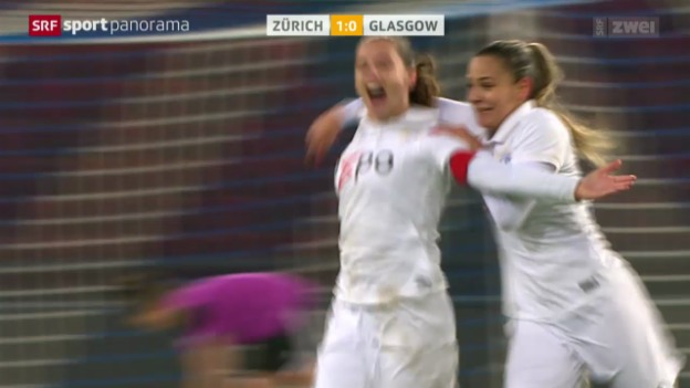 Video «Fussball: Champions League Frauen, Zürich - Glasgow City» abspielen