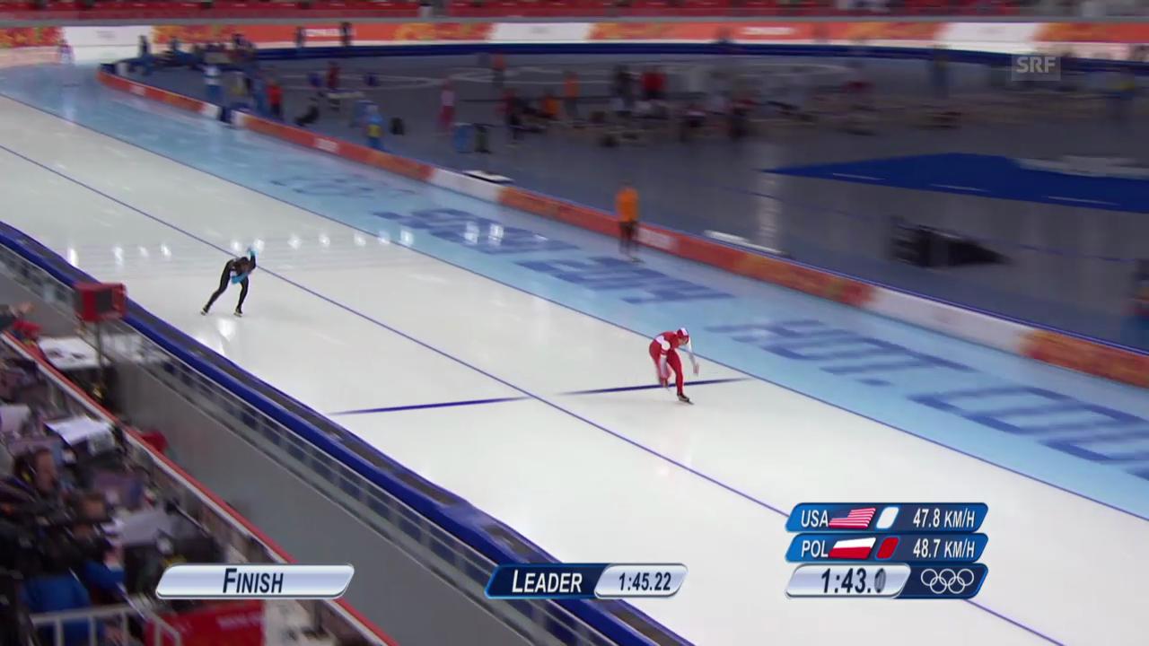 Eisschnelllauf: 1500m Männer, Lauf von Zbigniew Brodka (sotschi direkt, 15.2.2014)