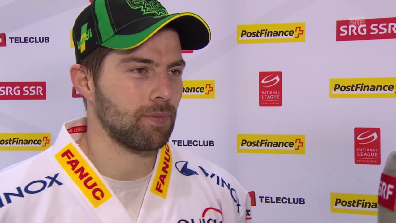 Eishockey: NLA, 45. Runde, Kloten - Biel, Interview mit EHCB-Goalie Simon Rytz