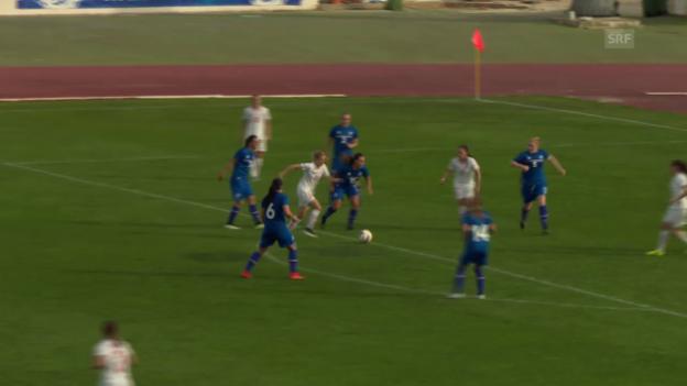 Video «Fussball: Algarve Cup, Schweiz - Island» abspielen
