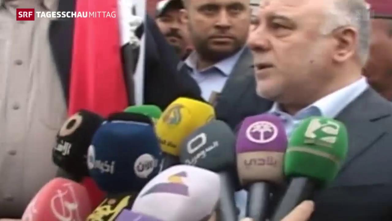 Irakischer Ministerpräsident in Ramadi