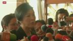 Video «Vertrauensvotum für Thailands Ministerpräsidentin» abspielen