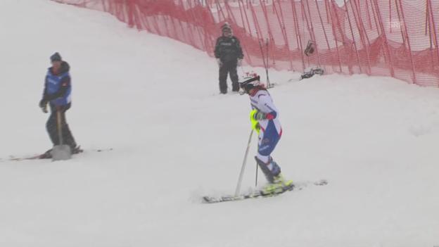 Video «Ski Alpin: Slalom Are, Der Ausfall von Wendy Holdener («sportlive», 8.3.2014)» abspielen