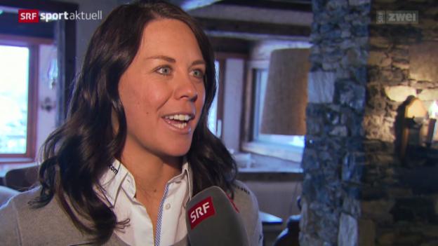 Video «Ski: Rücktritt von Fränzi Aufdenblatten» abspielen