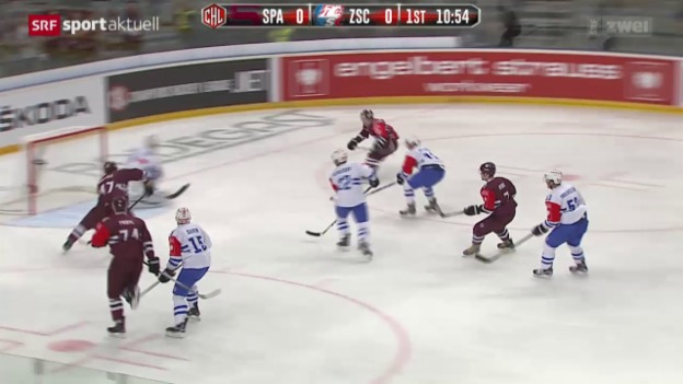 Video «Eishockey: Champions League, Sparta Prag - ZSC Lions» abspielen