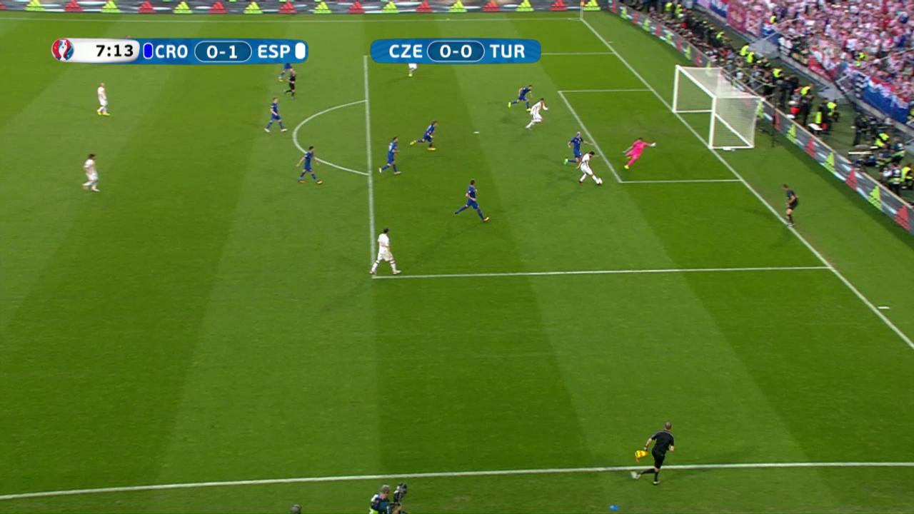 Herrliche Kombination der Spanier zum 1:0