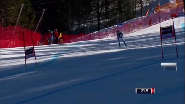 Video «Ski: Die Super-G-Fahrt von Dominique Gisin» abspielen