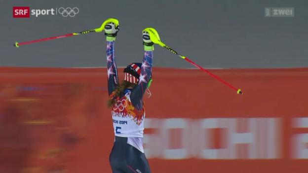 Video «Ski Alpin: Slalom der Frauen» abspielen