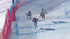 Video «Skicross: 2. Weltcup-Rennen in Arosa, Männer-Final» abspielen
