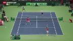 Video «Davis-Cup: Schweiz verspielt ersten Matchball» abspielen