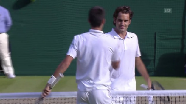 Video «Tennis: Wimbledon, Federer - Djokovic, die Live-Highlights» abspielen