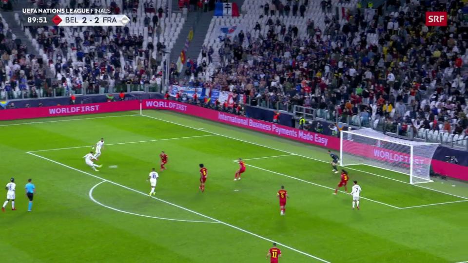 Franscha batta Belgia suenter esser enavos 0:2 (SRF)