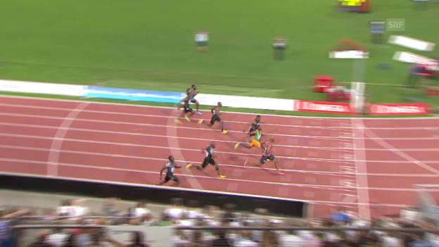 Video «Powell gewinnt in Lausanne über 100 m» abspielen
