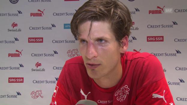 Video «Fussball: Timm Klose im Interview (Test auf Kunstrasen)» abspielen