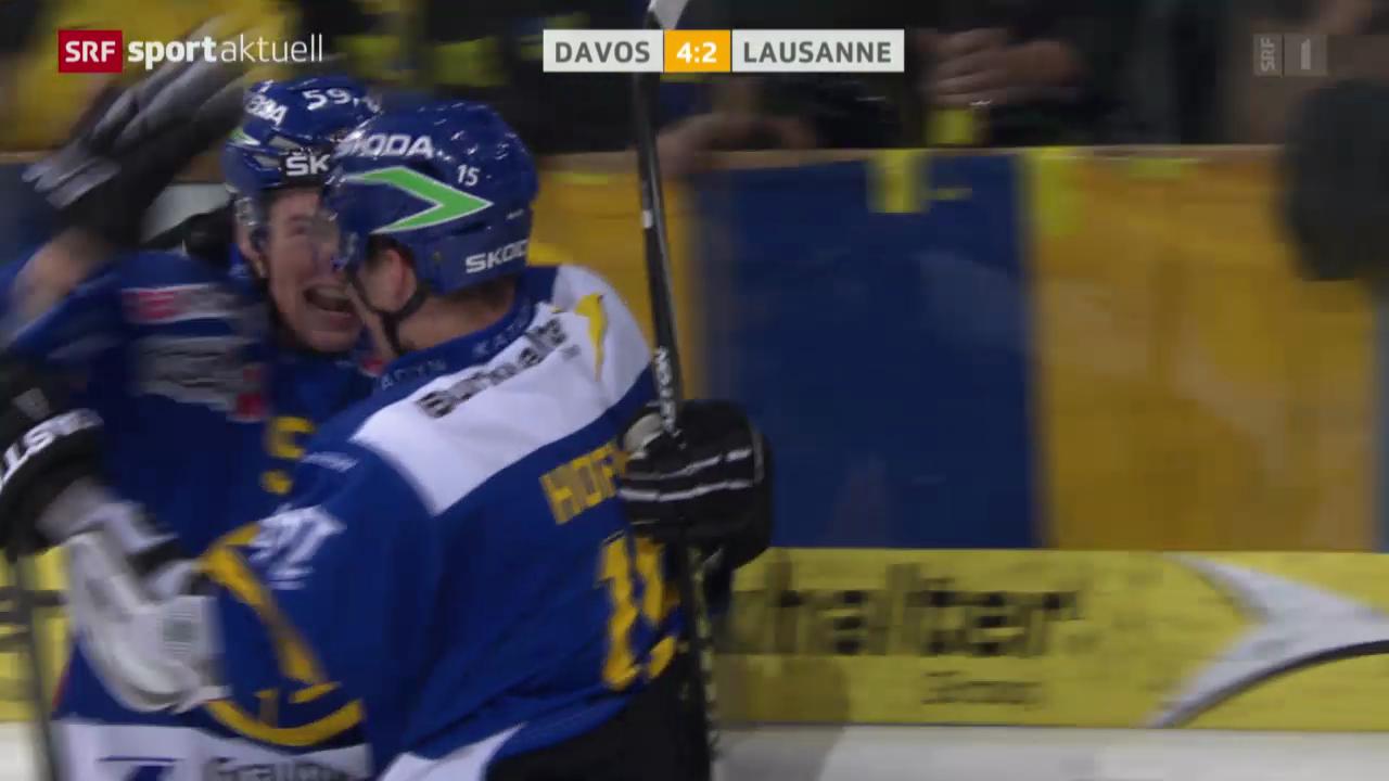 Eishockey: NLA, Davos - Lausanne