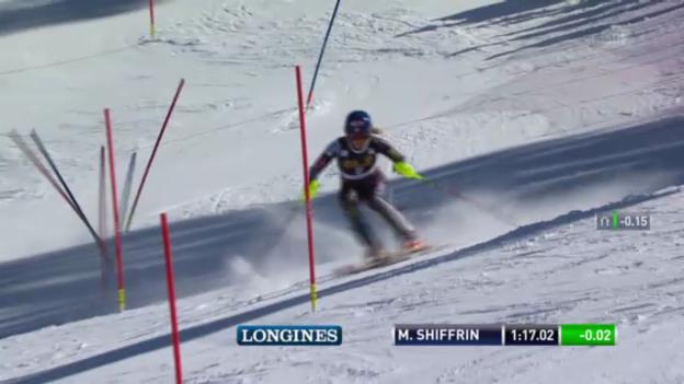 Video «Ski: SL Lenzerheide 2. Lauf Shiffrin» abspielen