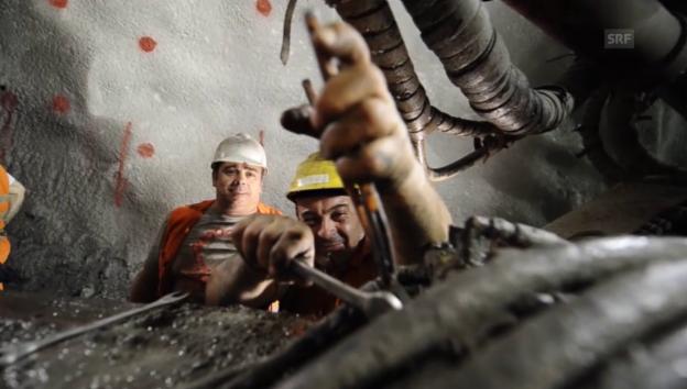 Video «Die Bauarbeiten im Ceneri» abspielen