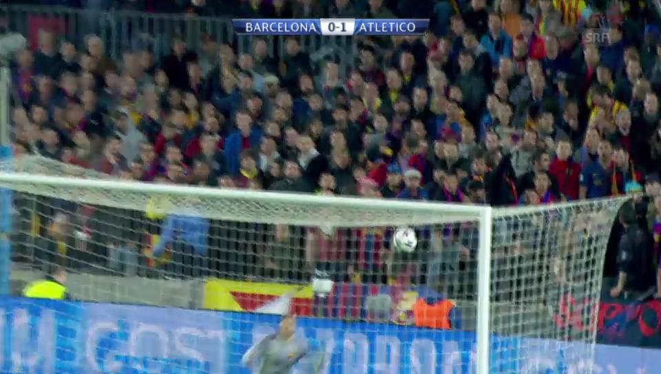 Viertelfinal-Hinspiel: Barcelona - Atletico 1:1