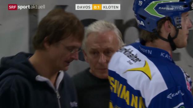 Video «Eishockey NLA: Davos - Kloten Flyers» abspielen
