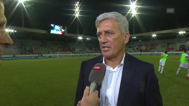 Video «Fussball: Schweiz-Liechtenstein, Interview mit Vladimir Petkovic» abspielen