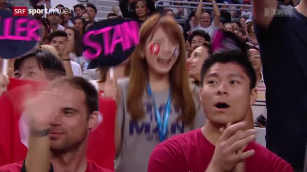 Video «Tennis: Wawrinka lässt Stepanek abblitzen» abspielen