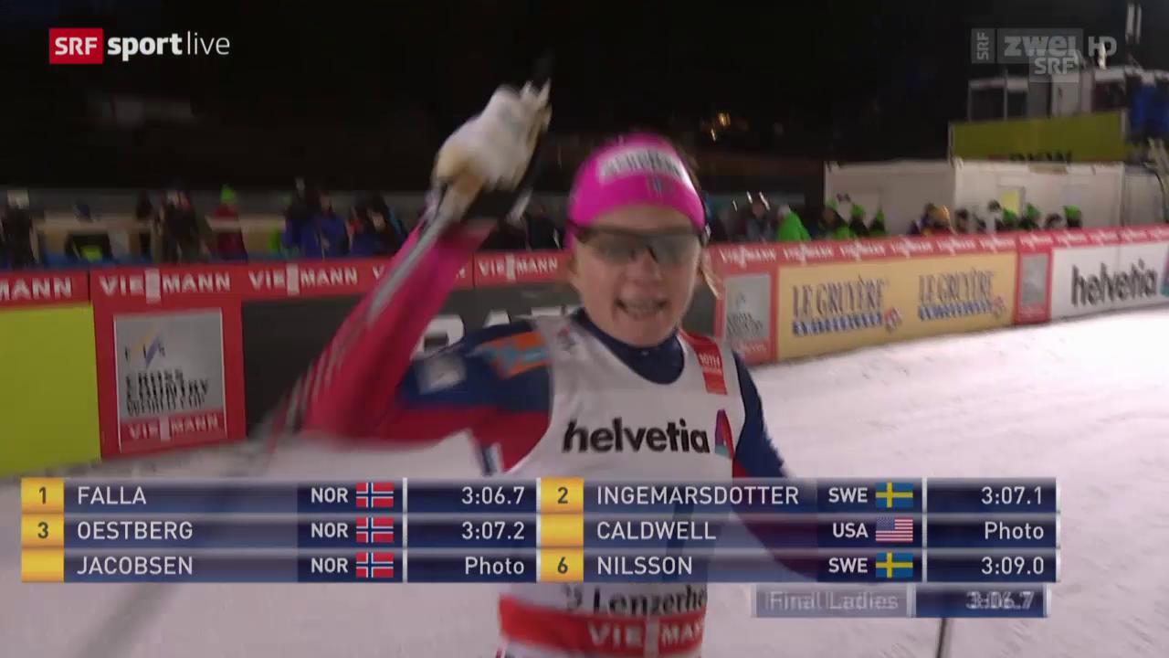 Langlauf: Tour de Ski, 1. Etappe Spirnt Frauen Final