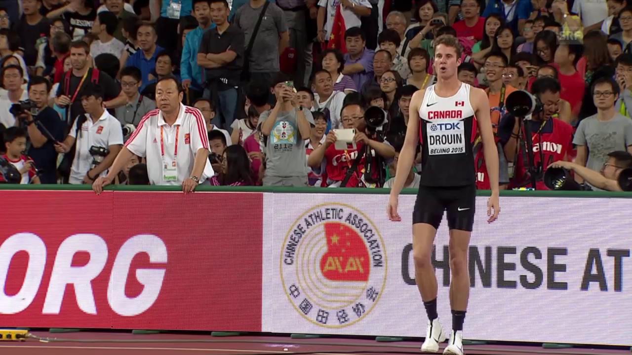 Leichtathletik: WM 2015 in Peking, Drouin gewinnt Hochsprung der Männer