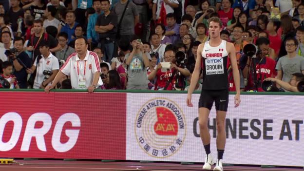 Video «Leichtathletik: WM 2015 in Peking, Drouin gewinnt Hochsprung der Männer» abspielen