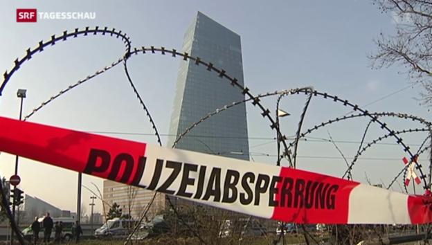 Video «Eskalation in Frankfurt» abspielen