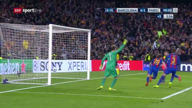 Video «Das 6:1 versetzt Barcelona in Ekstase» abspielen