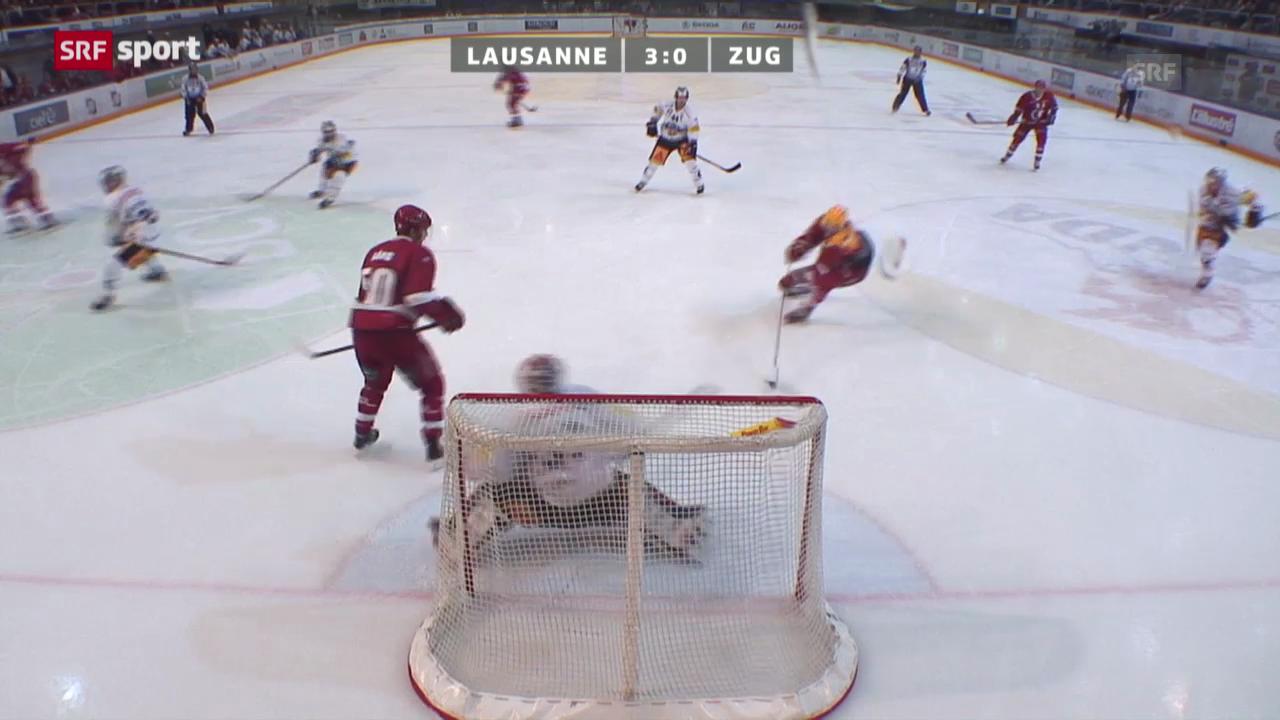 Eishockey: Lausanne - Zug