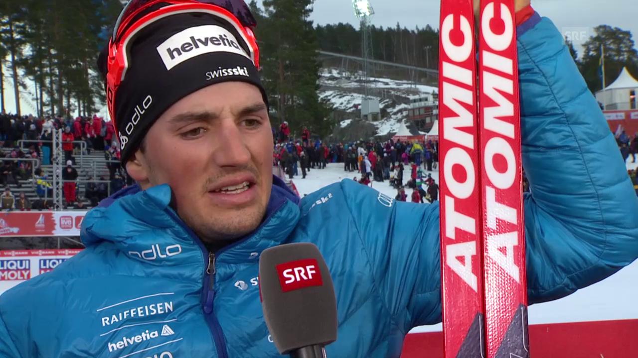 Langlauf: Nordisch-WM in Falun, Interview mit Jonas Baumann